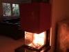 Heizkamin mit Natursteinverkleidung und 3-Seiten-Feuereinsicht 2
