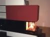 Heizkamin mit Natursteinverkleidung und 3-Seiten-Feuereinsicht